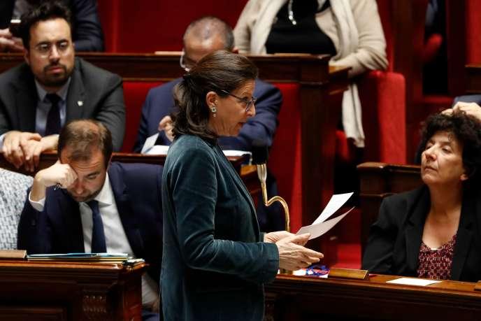 Agnès Buzyn à l'Assemblée nationale, le 19 mars.