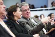 Agnès Buzyn, ministre de la santé, et Jean-Paul Delevoye, haut commissaire à la réforme des retraites,le 13 décembre, à Paris.