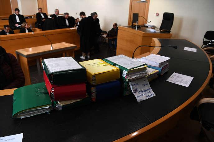 Au tribunal de Marseille, le 18 mars 2019. Le report du procès Bourbon a été décidé pour vice de procédure par la présidente du tribunal.