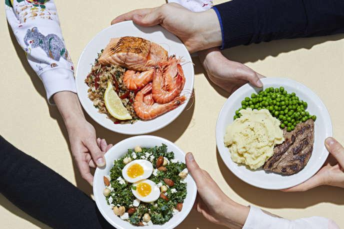 Qui veut quoi ? Différents types de régimes : pescétarien, traditionnel, végétarien, sans gluten, crudivore.