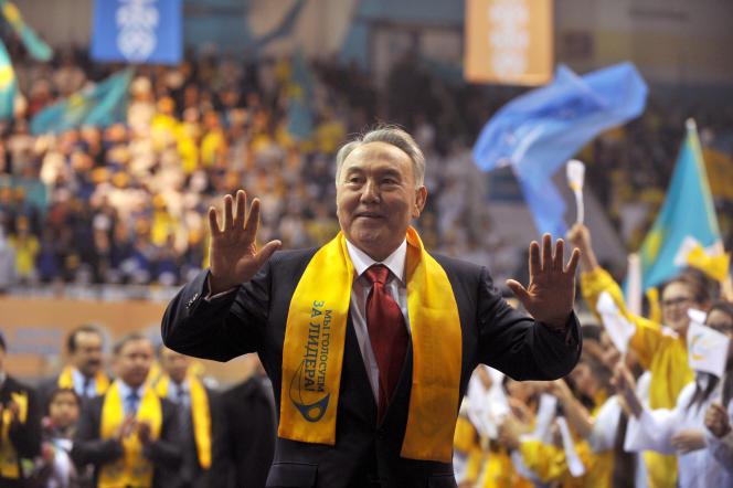 Le présidentNoursoultanNazarbaïev, le 4 avril 2011 à Astana.
