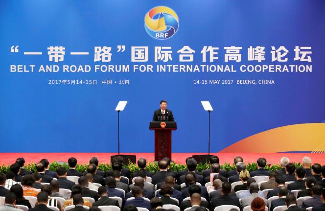 Le président chinois Xi Jinping lors du forum des « nouvelles routes de la soie », àPékin, en mai 2017.