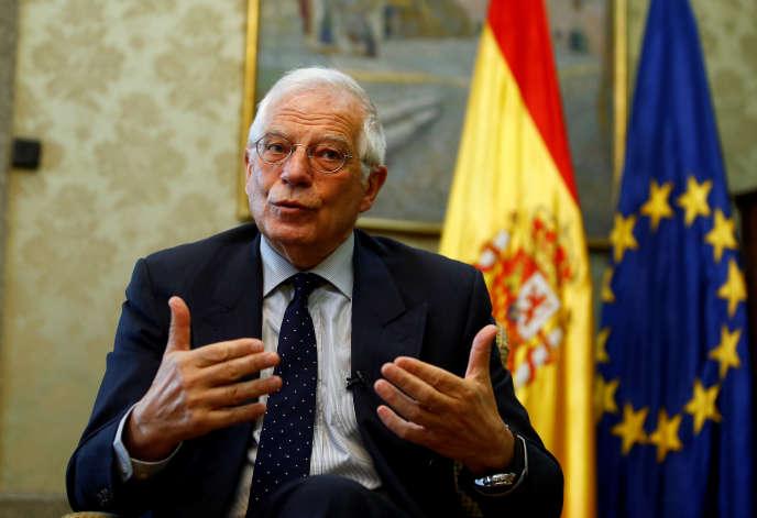 Josep Borrell, ministre espagnol des affaires étrangères, à Madrid, le 20 mars.