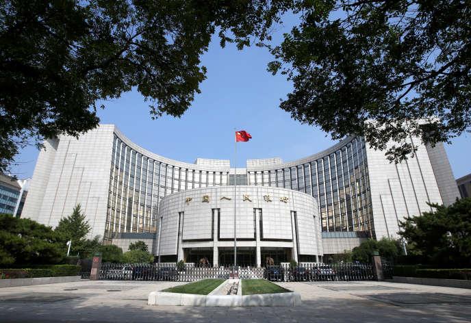Le siège de la Bank of China (Banque centrale de Chine), à Pékin, en septembre 2018.
