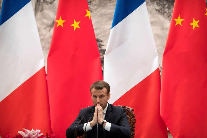 Emmanuel Macron, en janvier 2018 à Pékin.