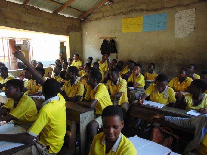 Une classe d'uneécole Omega à Kasoa, au Ghana, le 4 mars 2019.