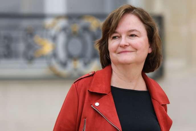 Nathalie Loiseau, ministre chargée des affaires européennes, s'apprête à prendre la tête de liste LRM, le 20 mars, à Paris.