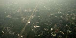 La ville de Chiang Maï, le 23 mars 2013, dont l'air est pollué par l'agriculture sur brûlis.