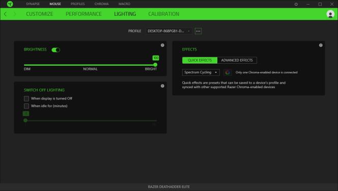 Les options d'éclairage sont faciles à personnaliser et on peut accorder les jeux lumineux avec des programmes spécifiques.
