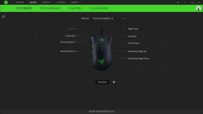 Il est plus intuitif de programmer les commandes des boutons sur Synapse que sur le logiciel de Logitech.