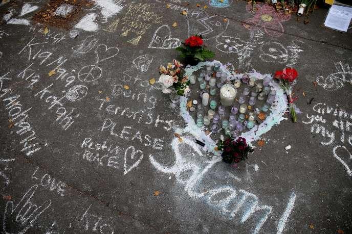 A Christchurch, en Nouvelle-Zélande, lundi 18 mars, trois jours après l'attentat contre deux mosquées.