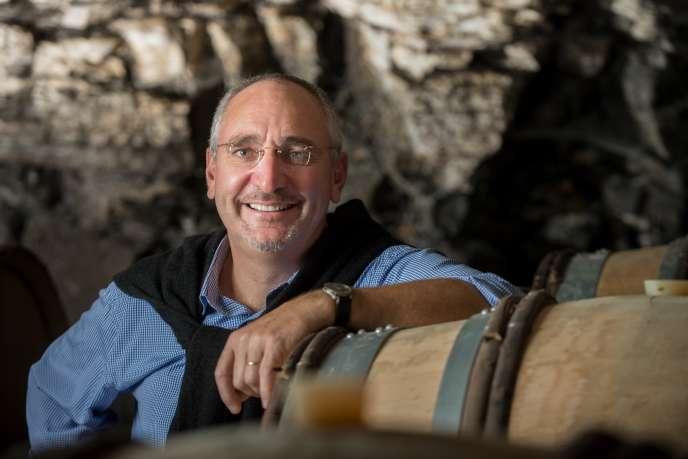 Frédéric Burrier, dans les caves du château de Beauregard.