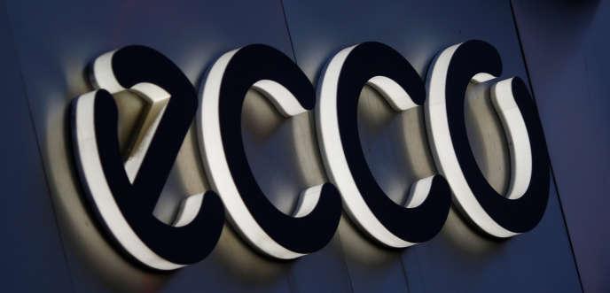 Le logo du fabricant danois de chaussures ECCO, à Vienne, en octobre 2016.