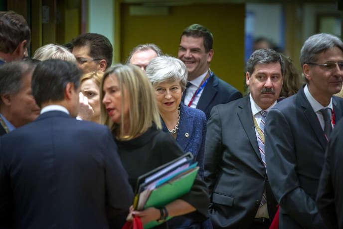 Teresa May au Conseil européen à Bruxelles, le 21 mars.