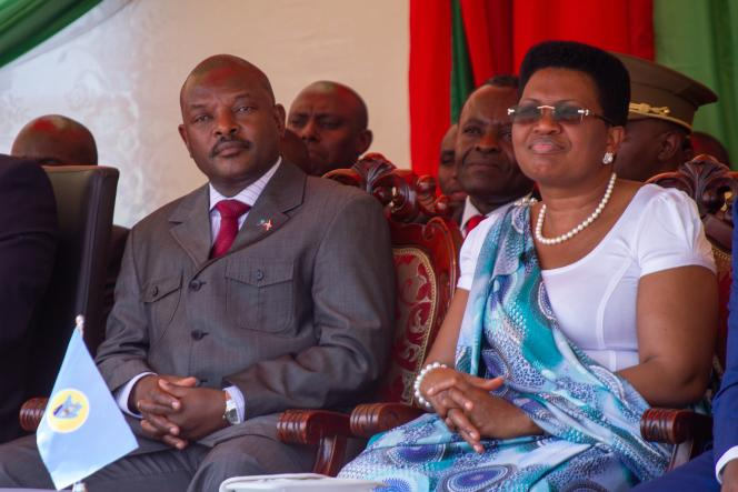 Le président Pierre Nkurunziza et sa femme à Bujumbura, le 7 juin 2018.