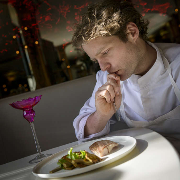 Julien Dumas, chef du restaurant Lucas Carton.