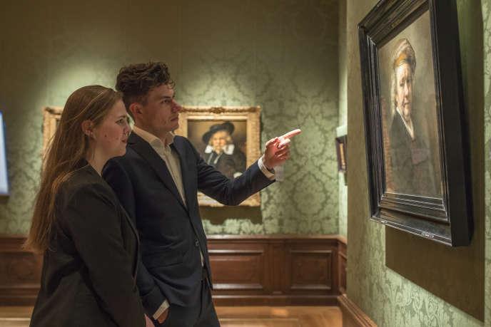 L'exposition « Rembrandt au Mauritshuis », à La Haye, aux Pays-Bas.