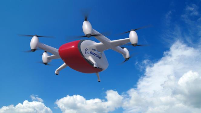 La Cargo Air Vehicle (CAV) dispose de huit hélices contrarotatives et évolue en mode autonome.