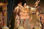 « Don Juan », dans la mise en scène de Frank Castorf, avec Franz Pätzold, Bibiana Beglau et Aurel Manthei.