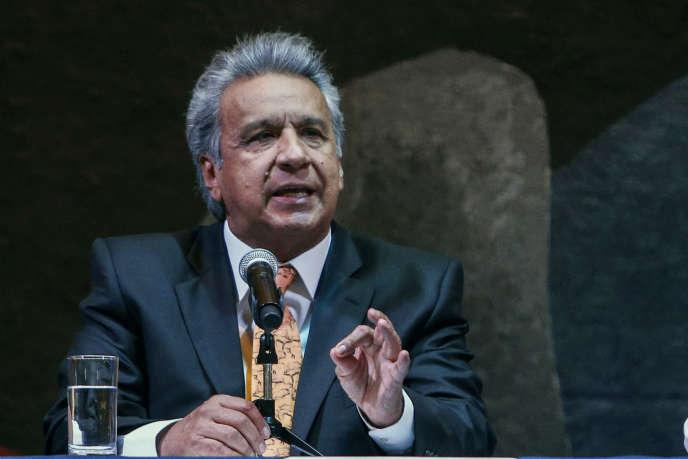 Le président équatorien, Lenin Moreno, à Quito, le 20 février.
