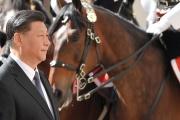 Le président chinois Xi Jinping à son arrivée en Italie, à Rome, le 22 mars.