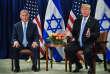 Le premier ministre israélien, Benyamin Nétanyahou, et le président américain, Donald Trump, à New York, le 26 septembre 2018.