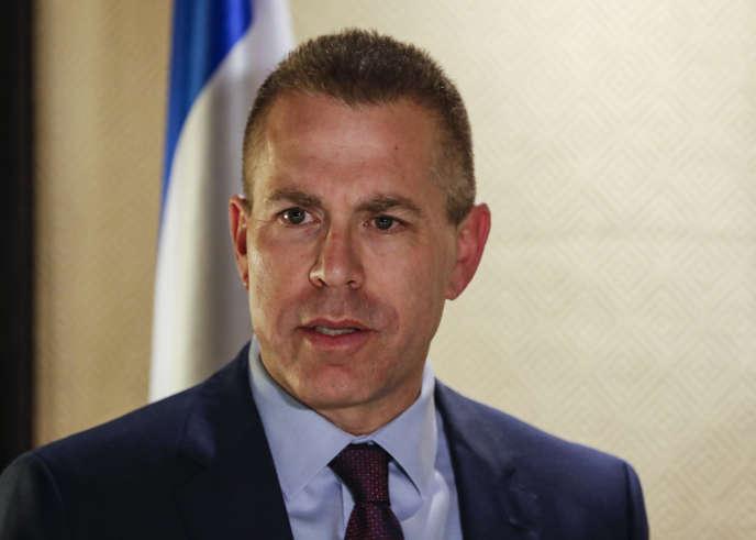 Le ministre israélien de la sécurité publique, Gilad Erdan, à Jérusalem, en décembre 2018.