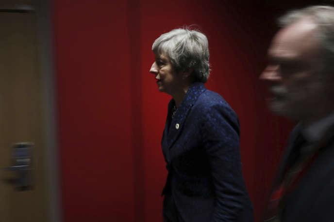 Theresa May à Bruxelles, le 22 mars.