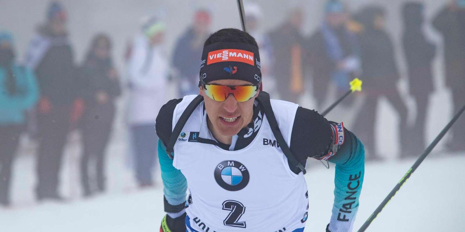 Quentin Fillon Maillet lors du sprint d'Oslo, le 22 mars 2019.
