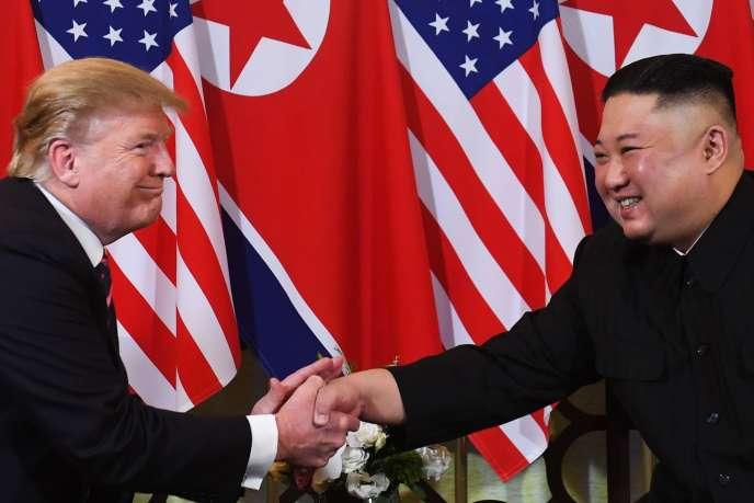 Le président américain Donald Trump et le leader nord-coréen Kim Jong-un, le 27 février à Hanoï.