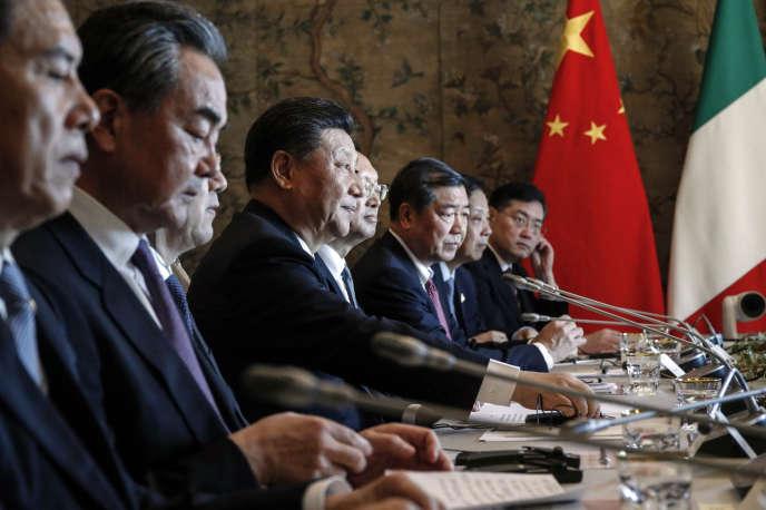 Le président chinois Xi Jinping, le 23 mars à Rome.