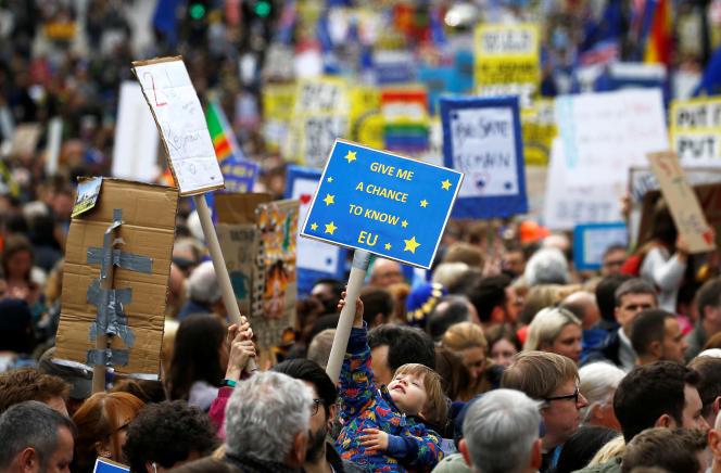 Les partisans d'un second référendum sur le Brexit ont manifesté à Londres, le23mars.