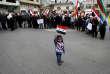 Des membres de la communauté druze du plateau du Golan manifestent à Majdal Shams, le samedi 23 mars.