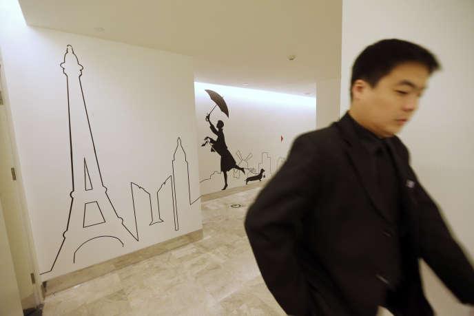 Les Galeries Lafayette, à Pékin, le 18 octobre 2013.