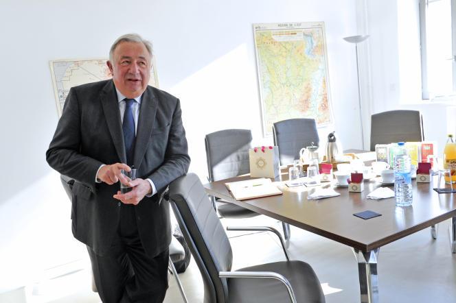 Le président du Sénat, Gérard Larcher, à Sciences Po Lille, le 22 mars 2019.