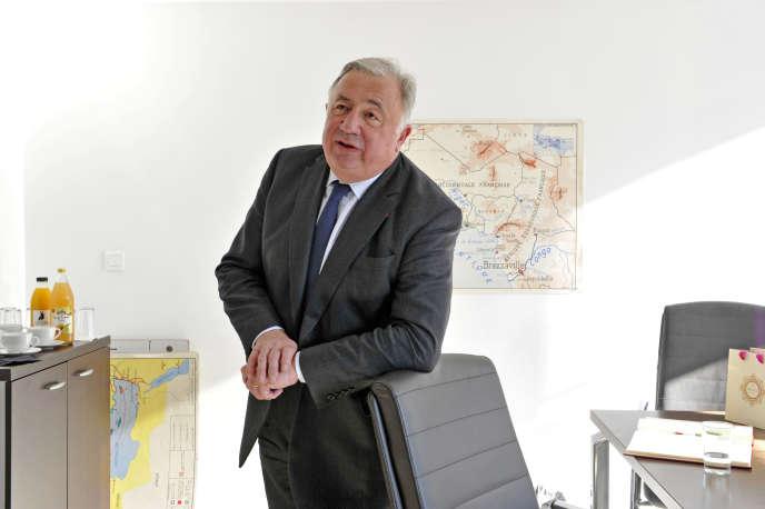 Le président du Sénat Gérard Larcher à Sciences Po Lille. Le 22 mars 2019.