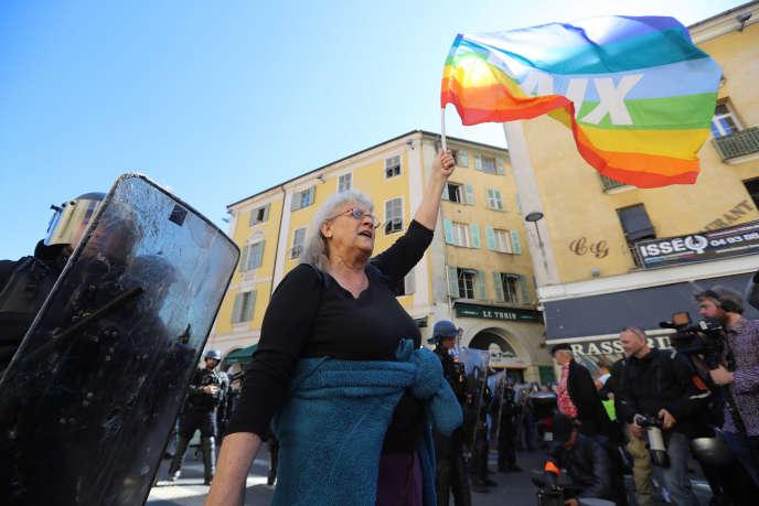 Geneviève Legay, 72 ans, a été blessée pendant l'acte XIX des« gilets jaunes» a Nice, le 23 mars.