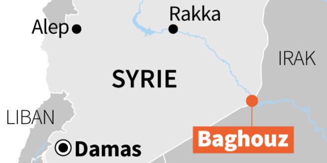 La ville de Baghouz est située à l'est de la Syrie.