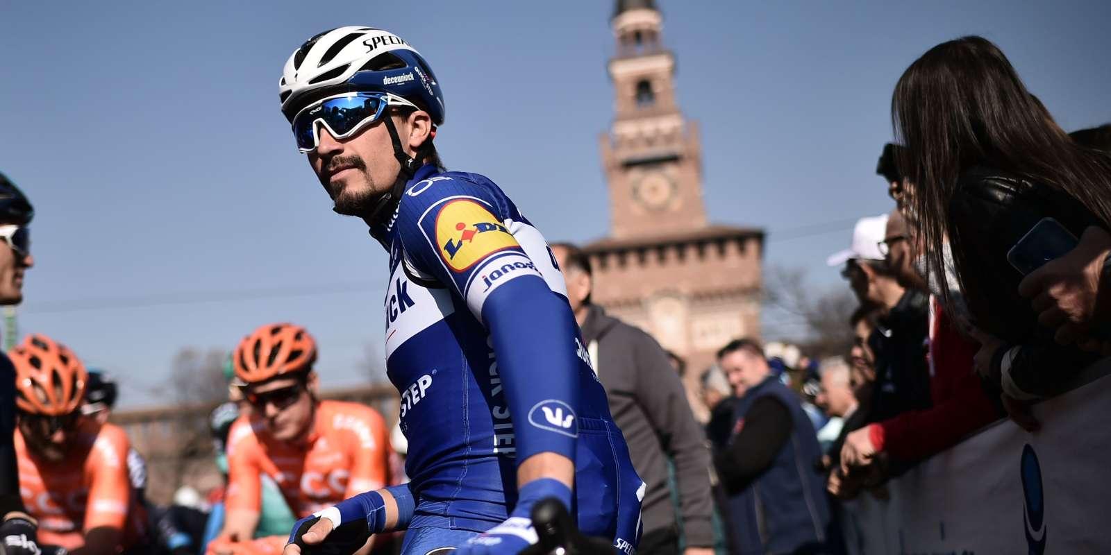 Julian Alaphilippe au départ de Milan - San Remo 2019.
