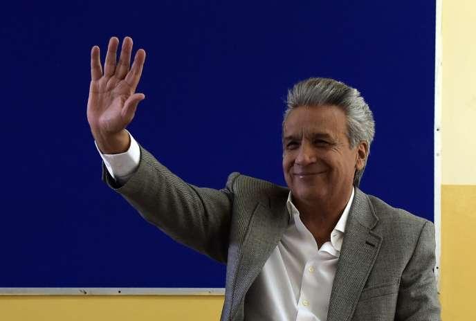 Le président équatorien, Lenín Moreno, à Quito, le 24 mars.