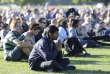 Commémorations de l'attentat de Christchurch à Hagley Park (Christchurch), en Nouvelle-Zélande, le 24mars.
