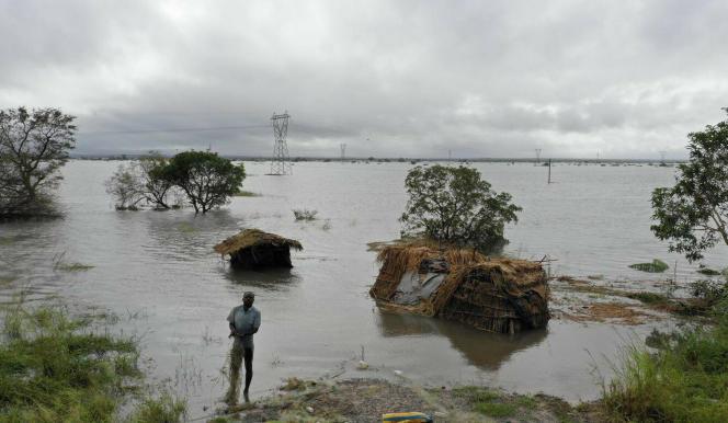 Innondations à Beira, le 20 mars 2019, sur la côte mozambicaine, après le passage du cyclone Idai.