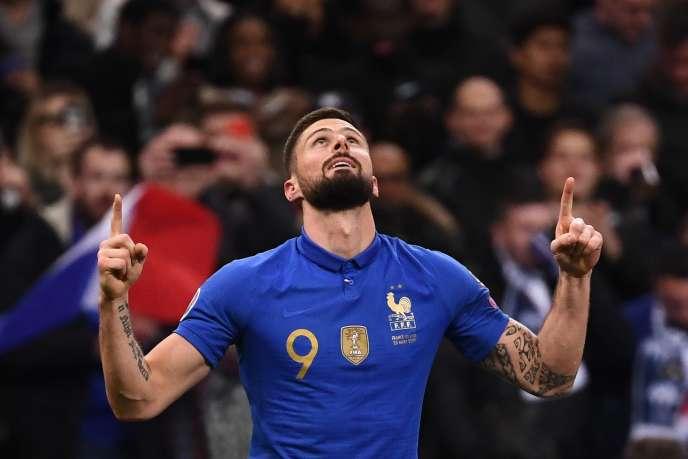 Olivier Giroud buteur face à l'Islande.