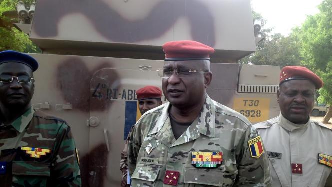 Le général tchadien quatre étoiles Brahim Seid Mahamat, dans le nord du Cameroun, le 26 mars 2015.