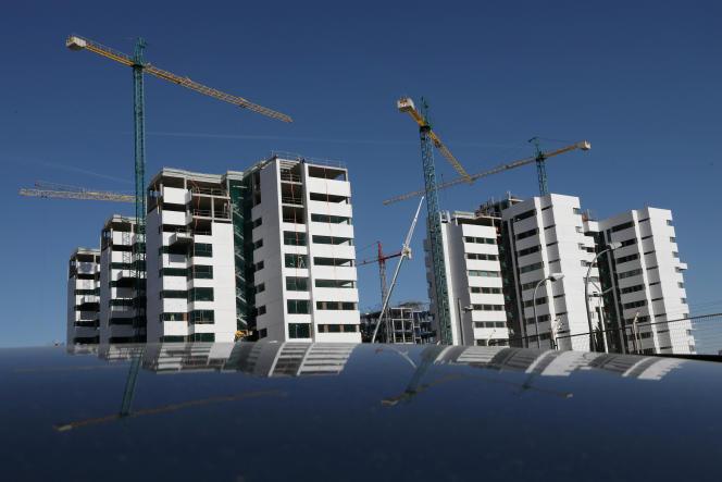 Immeubles en construction, à Madrid, en septembre 2018.