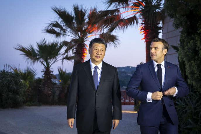 Le président chinois Xi Jinping à la Villa Kerylos à Beaulieu-sur-Mer dans les Alpes-Maritimes, dimanche 24 mars.«»