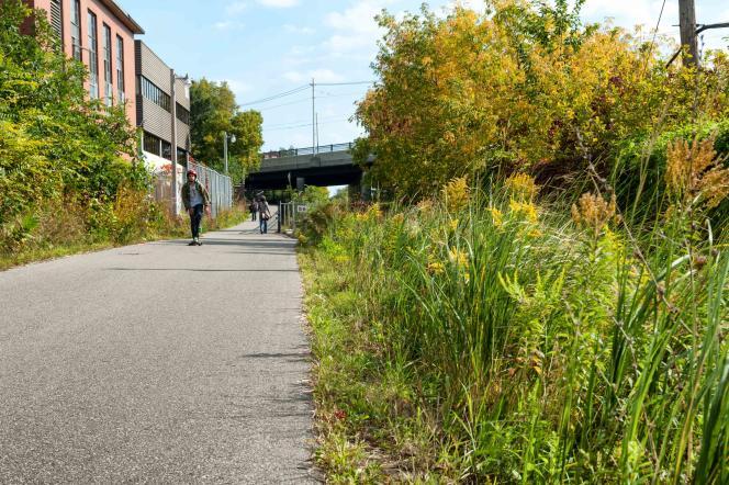 La voie cyclable et piétonne West Toronto Railpath.