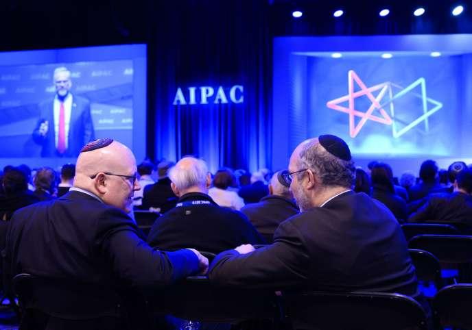 A la conférence de l'American Israel Public Affairs Committee, à Washington, le 24 mars.