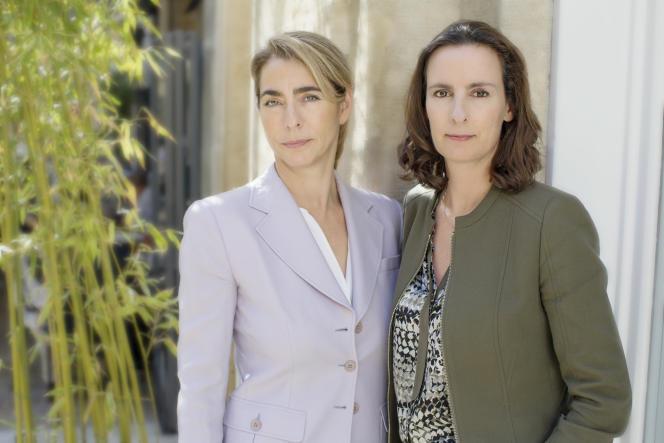 Catherine Berjal (à gauche) et Anne-Sophie d'Andlau,les fondatrices et dirigeantes de CIAM à Paris en mai 2017.