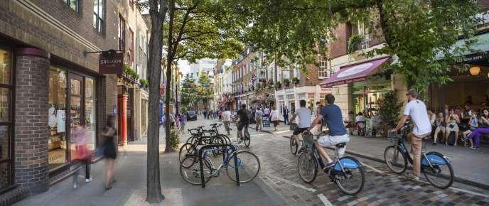 Dans le quartier de Covent Garden, à Londres, une «rue saine» telle que l'envisage l'Autorité des transports de Londres (Transport for London)